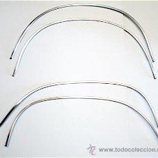Coches y Motocicletas: FIAT 125, 125 SPECIAL, POLSKI FIAT 125P: JUEGO MOLDURAS ORIG. INOX. GUARDABARROS (PASO DE RUEDAS). Lote 194781826