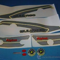 Coches y Motocicletas: JUEGO DE ADHESIVOS DE BULTACO ALPINA 250 Y 350. MODELOS 165 Y 166. Lote 199340062