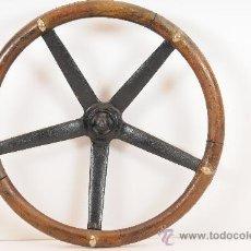 Coches y Motocicletas: VOLANTE DE COCHE EN MADERA, CON REFERENCIA 7503-X, PRINCIPIOS S.XX. Lote 24472957