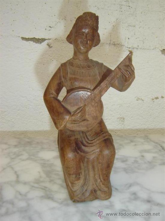 FIGURA TALLADA ORIENTAL (Coches y Motocicletas - Repuestos y Piezas (antiguos y clásicos))