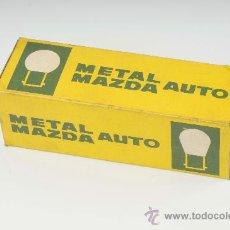 Coches y Motocicletas: CAJA DE BOMBILLAS METAL MAZDA AUTO. Lote 173936835