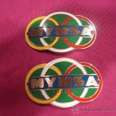 Coches y Motocicletas: ANAGRAMAS , DE CHAPA PARA MOTO MYMSA.. Lote 29333660