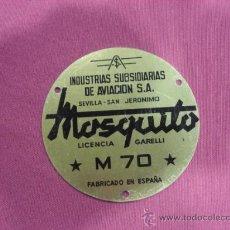 Coches y Motocicletas: CHAPA MOTO MOSQUITO M 70, DE UNOS 10 CM DIAMETRO.. Lote 171267572