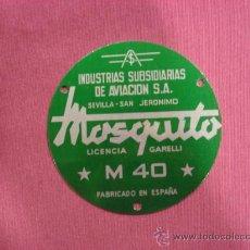 Coches y Motocicletas: PLACA METALICA DE MOTO MOSQUITO M-40, DE 10 CM DIAMETRO. MOTOR. Lote 171267608