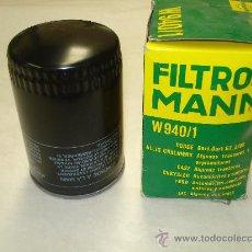 Coches y Motocicletas: FILTRO ACEITE MANN W940/1 DODGE DART, 3700GT. Lote 30994484