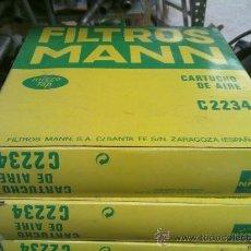 Coches y Motocicletas: FILTRO DE AIRE MANN C2234 PARA RENAULT 5 Y 7. Lote 31027718
