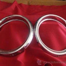 Coches y Motocicletas: CERQUILLOS (AROS) DE FAROS SEAT-FIAT 124 Y 238 OPTICAS REDONDAS. Lote 31143897