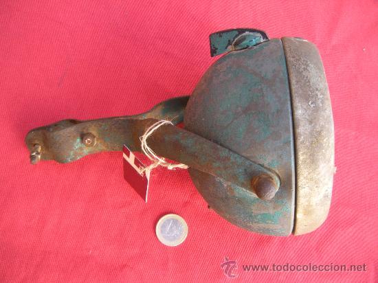 Coches y Motocicletas: ANTIGUO FARO FAROL DE BICICLETA CON ACOPLE AL MANILLAR. - Foto 4 - 33400769