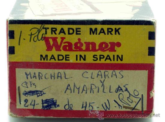 Coches y Motocicletas: Caja 12 lámparas bombillas Wagner Marchal amarilla 24 voltios 45 y 50 W 1 polo ref 374 sin uso - Foto 3 - 33627258