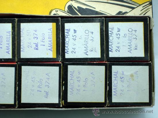 Coches y Motocicletas: Caja 12 lámparas bombillas Wagner Marchal amarilla 24 voltios 45 y 50 W 1 polo ref 374 sin uso - Foto 6 - 33627258