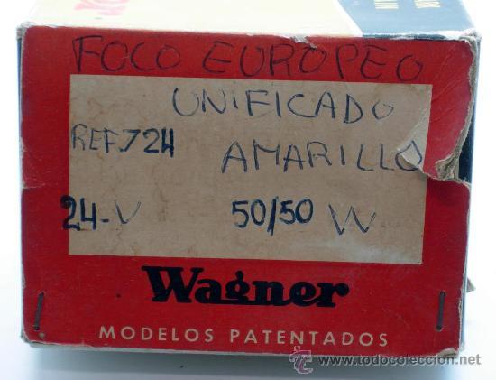 Coches y Motocicletas: Caja 12 lámparas bombillas Wagner Foco europeo unificado 24 voltios 50/50 amarillo Ref 724 sin uso - Foto 5 - 138781101