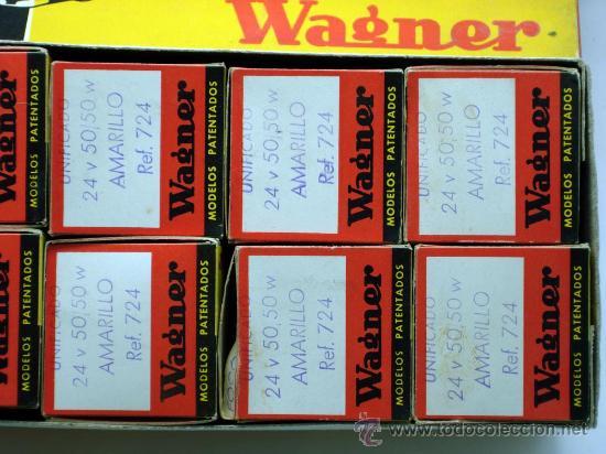 Coches y Motocicletas: Caja 12 lámparas bombillas Wagner Foco europeo unificado 24 voltios 50/50 amarillo Ref 724 sin uso - Foto 7 - 138781101