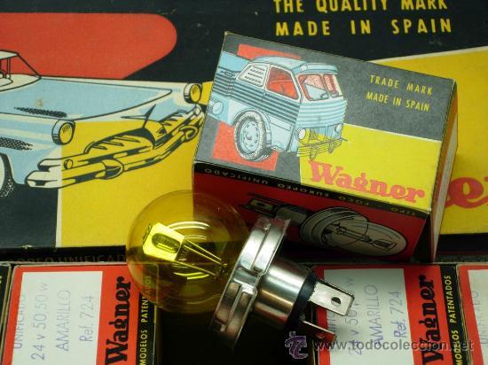 Coches y Motocicletas: Caja 12 lámparas bombillas Wagner Foco europeo unificado 24 voltios 50/50 amarillo Ref 724 sin uso - Foto 9 - 138781101