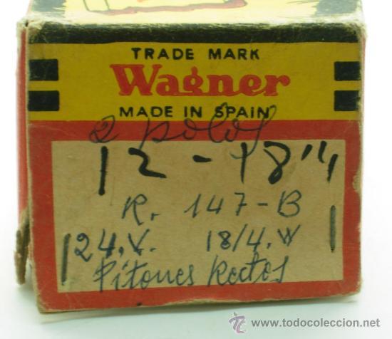 Coches y Motocicletas: Caja 11 bombillas Lámparas Wagner coche Ref 147 B 24 voltios 18/4 W Pistones rectos sin uso - Foto 3 - 33610453