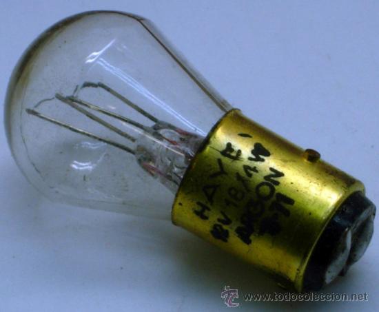 Coches y Motocicletas: Caja 11 bombillas Lámparas Wagner coche Ref 147 B 24 voltios 18/4 W Pistones rectos sin uso - Foto 4 - 33610453