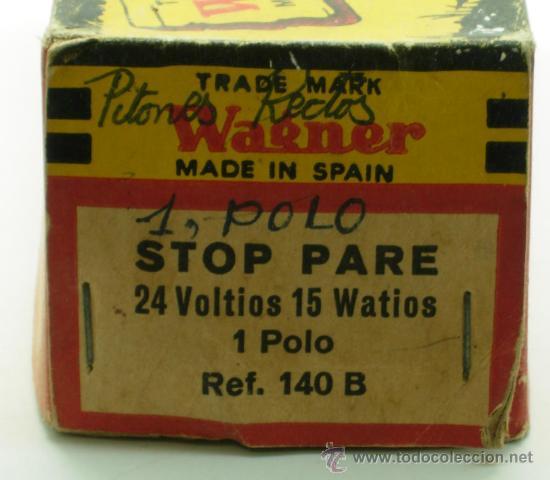 Coches y Motocicletas: Caja 12 bombillas Lámparas Wagner coche Stop Pare Ref 140 B 24 voltios 15 W 1 polo sin uso - Foto 3 - 33609607
