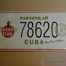 Coches y Motocicletas: IMITACION MATRICULA DE CUBA METALICA. Lote 34131826