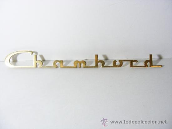 LOGOTIPO VEHICULO SIMCA CHAMBORD (Coches y Motocicletas - Repuestos y Piezas (antiguos y clásicos))