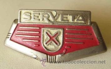 CHAPA O PLACA DEL VEHICULO SERVETA (Coches y Motocicletas - Repuestos y Piezas (antiguos y clásicos))