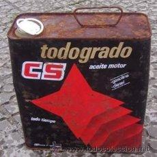 Coches y Motocicletas: LATA ACEITE CS TODOGRADO. Lote 36663400