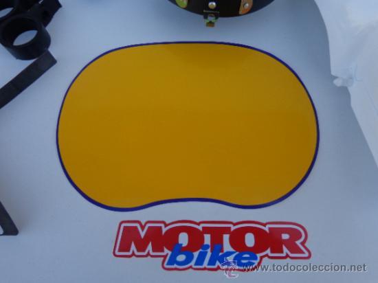 Coches y Motocicletas: CARETA DE PORTA FARO MONTESA ENDURO H6 Y H7, 125, 250 Y 360, BLANCA. COMPLETA - Foto 3 - 170985369