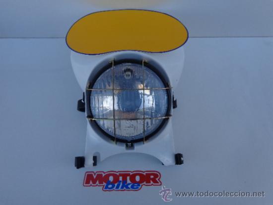 Coches y Motocicletas: CARETA DE PORTA FARO MONTESA ENDURO H6 Y H7, 125, 250 Y 360, BLANCA. COMPLETA - Foto 7 - 170985369