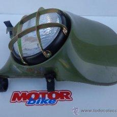 Coches y Motocicletas: CARETA DE PORTA FARO MONTESA ENDURO H6 Y H7, 125, 250 Y 360, KAKI COMPLETA. Lote 36936538