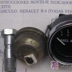 Coches y Motocicletas: RENAULT 4 SERIES ANTIGUAS - KIT MANÓMETRO PRESIÓN DE ACEITE - JAEGER - A ESTRENAR . Lote 36919804