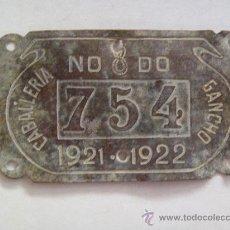 Coches y Motocicletas: PLACA DE CABALLERIA DE GANCHO DEL AYUNTAMIENTO DE SEVILLA. 1921-22. EXCAVACION .. Lote 39118911