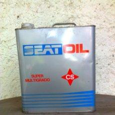 Coches y Motocicletas: LATA DE ACEITE SEAT OIL SUPER MULTIGRADO CS.. Lote 41462645