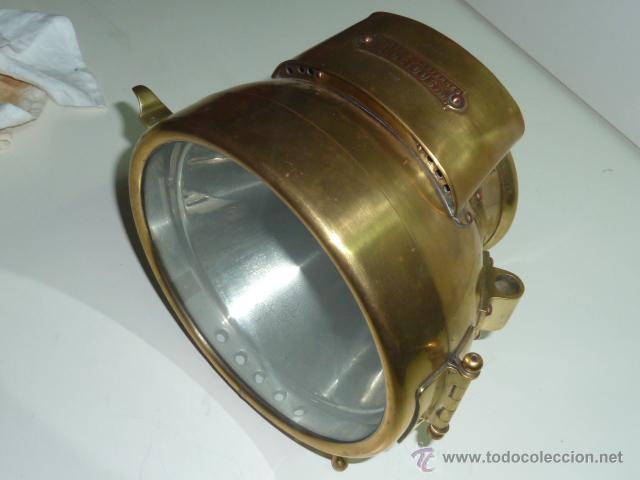 Coches y Motocicletas: Antiguo faro de coche de gas acetileno,(carburo) Lucidus - Foto 4 - 40815684