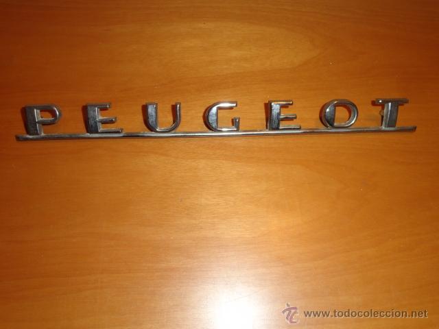 ANAGRAMA PARA COCHE PEUGEOT (Coches y Motocicletas - Repuestos y Piezas (antiguos y clásicos))