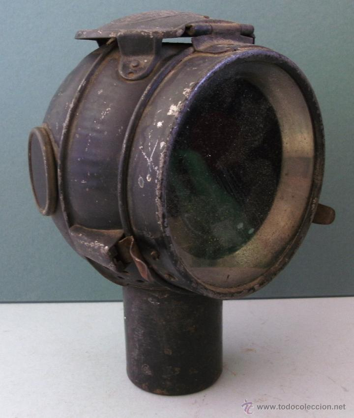 Coches y Motocicletas: antiguo faro frances de coche: phares besnard ´ les vestales ´ , paris (19x15x12cm aprox) - Foto 2 - 42138247