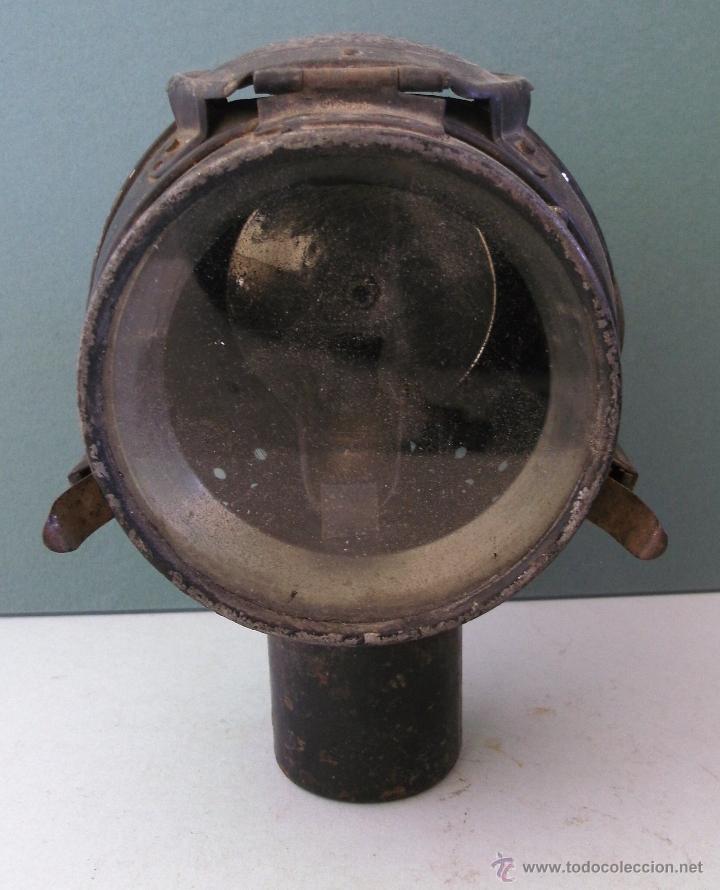 Coches y Motocicletas: antiguo faro frances de coche: phares besnard ´ les vestales ´ , paris (19x15x12cm aprox) - Foto 3 - 42138247