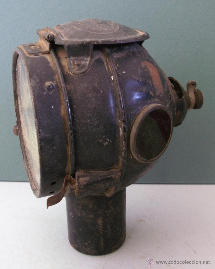 Coches y Motocicletas: antiguo faro frances de coche: phares besnard ´ les vestales ´ , paris (19x15x12cm aprox) - Foto 4 - 42138247