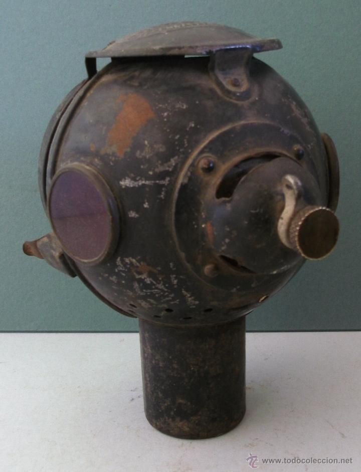 Coches y Motocicletas: antiguo faro frances de coche: phares besnard ´ les vestales ´ , paris (19x15x12cm aprox) - Foto 5 - 42138247