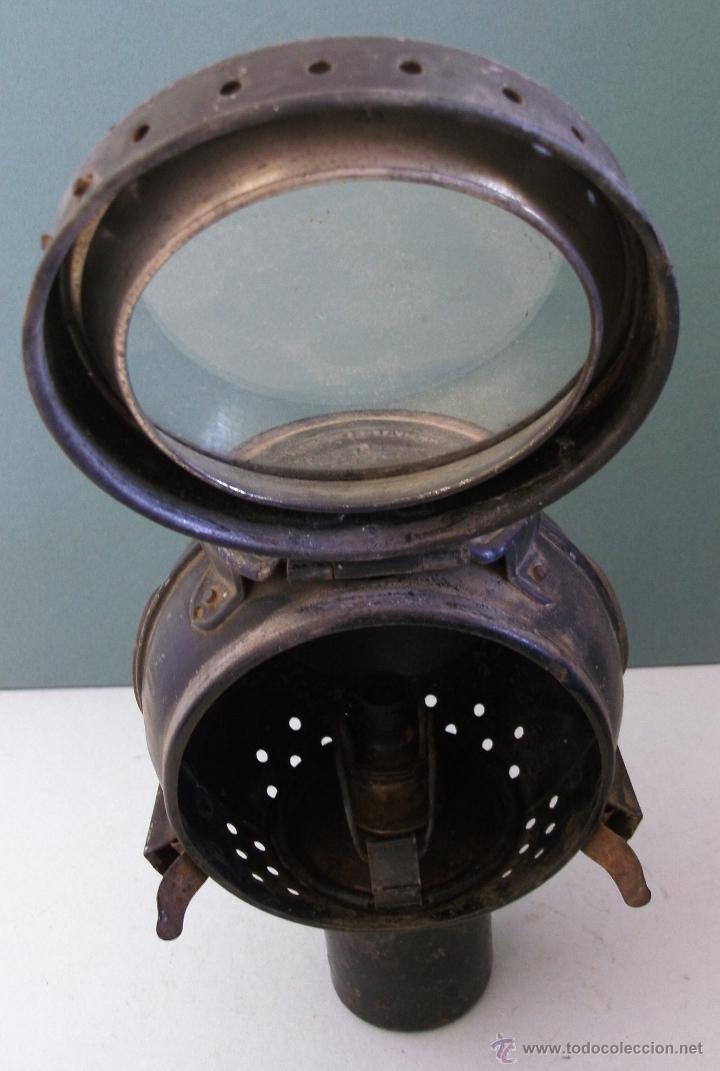 Coches y Motocicletas: antiguo faro frances de coche: phares besnard ´ les vestales ´ , paris (19x15x12cm aprox) - Foto 8 - 42138247