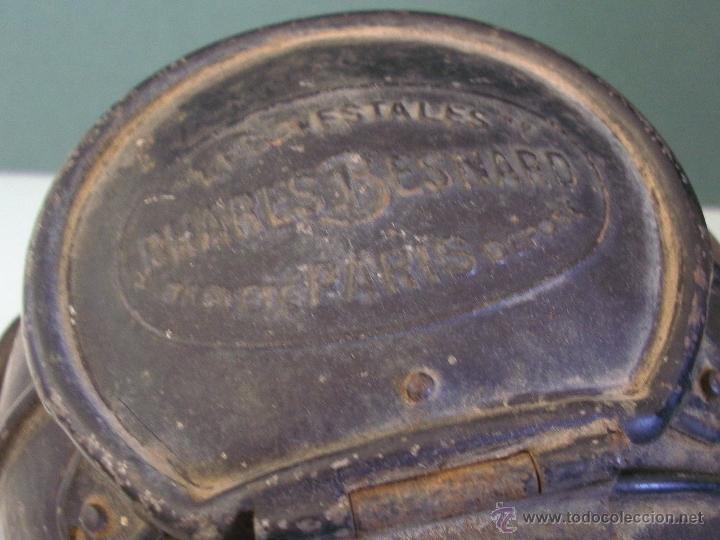 Coches y Motocicletas: antiguo faro frances de coche: phares besnard ´ les vestales ´ , paris (19x15x12cm aprox) - Foto 10 - 42138247