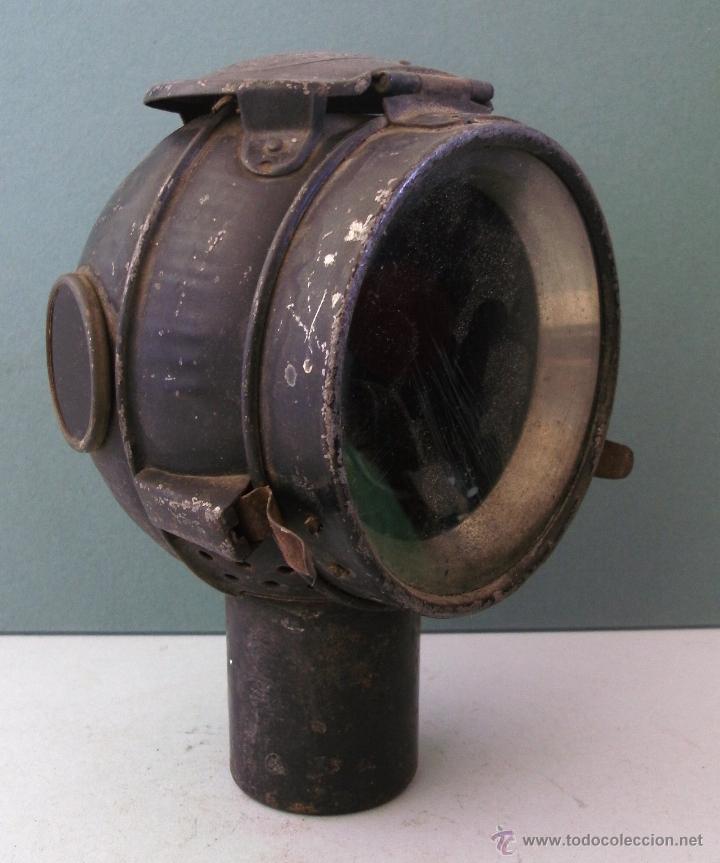 Coches y Motocicletas: antiguo faro frances de coche: phares besnard ´ les vestales ´ , paris (19x15x12cm aprox) - Foto 11 - 42138247