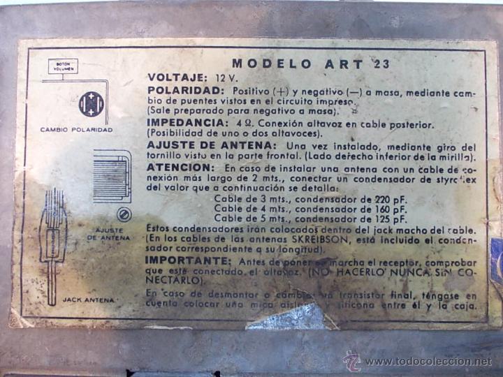 Coches y Motocicletas: RADIO DE COCHE AÑOS 60, FUNCIONANDO - Foto 8 - 42145005