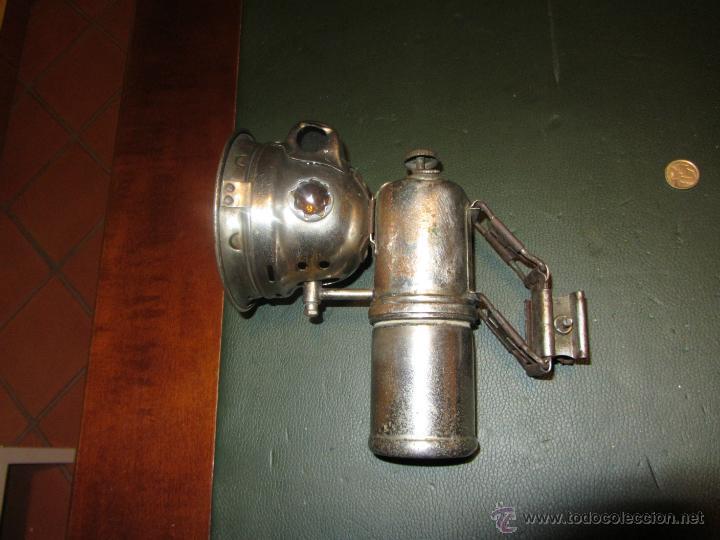 Coches y Motocicletas: FARO DE CARBURO MARCA ETOILE EPOCA 1900 A 1930. - Foto 5 - 42162297