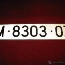 Coches y Motocicletas: MATRÍCULA ANTIGUA DE MADRID . Lote 43318854