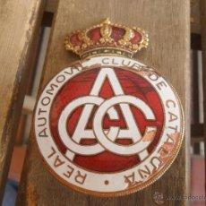 Coches y Motocicletas: ANTIGUA PLACA METALICA REAL AUTOMOVIL CLUB DE CATALUÑA. Lote 83283826