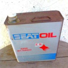 Coches y Motocicletas: LATA DE ACEITE SEAT OIL SUPER MULTIGRADO CS.. Lote 44148869