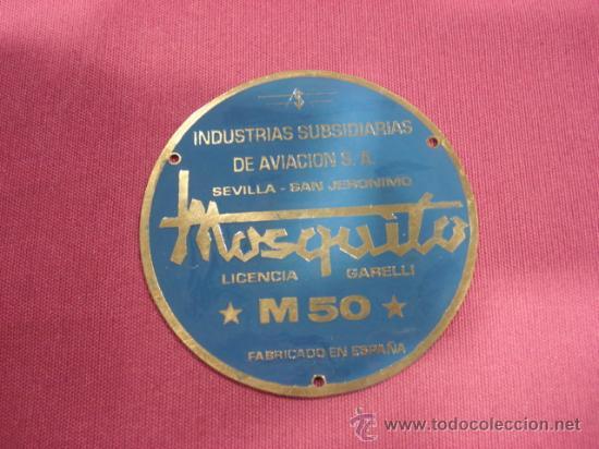PLACA MOSQUITO M 50 GARELLI, CHAPA DEL MOTOR (Coches y Motocicletas - Repuestos y Piezas (antiguos y clásicos))
