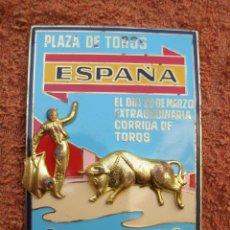 Coches y Motocicletas: ANTIGUA PLACA PARA COCHE ESMALTADA , 9 CM X 6.5 CM - ( VER FOTOS ADICIONALES ) . . Lote 45246424