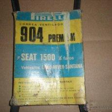 Coches y Motocicletas: CORREA VENTILADOR SEAT 1500. Lote 46891068