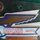 Coches y Motocicletas: MOTO DUCATI,ADHESIVOS DE LOS 80,MOTOTRANS PAREJA DEPOSITO.. Lote 50825311