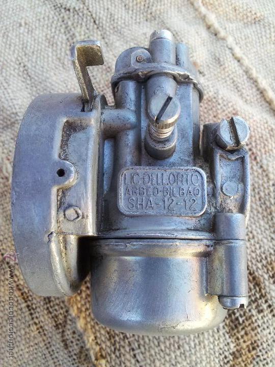 ANTIGUO CARBURADOR DELLORTO 1ª SERIE---AÑOS 60---SHA -12 -12,,SIN FILTRO (Coches y Motocicletas - Repuestos y Piezas (antiguos y clásicos))