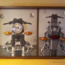 Coches y Motocicletas: MOTOCICLETA BMW R50/5 R60/5 R75/5 MUY DECORATIVO PANEL LUMINOSO DE ENSEÑANZA DE AUTOESCUELA..AÑOS 70. Lote 51787447